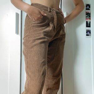 Pants - brown corduroy pants
